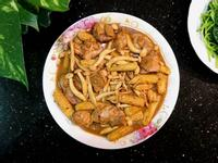 雙醬玉米筍燒菇雞