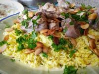 約旦國菜Mansef-中東優格羊肉手抓飯