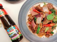 塔香沙茶蠔油辣牛肉