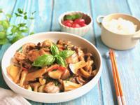 三杯菇菇雞-手繪食譜