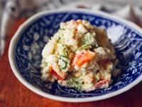 馬鈴薯沙拉,蛋的熟度是美味關鍵