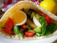 馬鈴薯櫛瓜蔬食口袋餅-中東早餐三明治