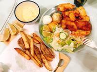 英式炸魚薯條🐟with全家雙薯沙拉🥗