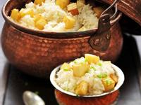 土豆焖黄金粥饭