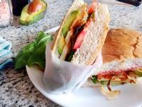 奶豆腐芝麻葉三明治-五辛奶蛋素食早餐