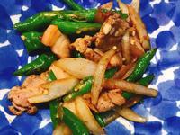 お弁当-181003-糯米椒炒鹹豬肉