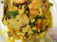 薑黃入菜-木須炒麵