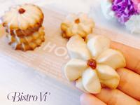 6種材料~快速小點心~果醬奶酥小花餅乾