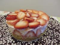 免烤箱草莓生乳酪蛋糕(6吋)