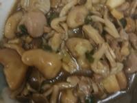 糖醋菱角磨菇炒雞肉