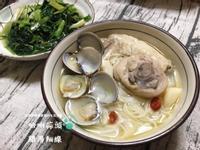 蛤蠣蒜頭雞湯麵線