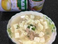 鮪魚豆腐蛋花湯