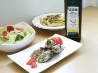 【黃金玄米油清爽料理】油蔥醬佐清蒸蘆筍豬肉捲
