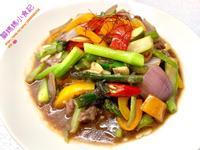 蠔油蘆筍牛肉&蘆筍汁