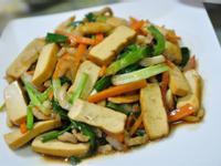 醬燒蔥段豆干肉絲