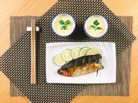 一爐多菜.鹽烤鯖魚+茶碗蒸/水波爐