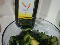 【健康廚房黃金玄米油】日式涼拌小黃瓜海帶芽