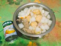 家常風味菜頭白菜湯