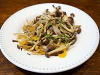 百里香炒蕈菇甜椒。便當蔬菜料理