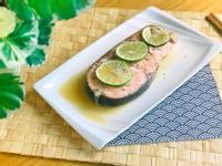水波燒烤.地中海風紙包檸檬鮭魚/水波爐