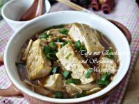 紅燒豆腐佮金針菇