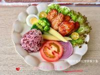 照燒雞翅紫米紅藜麥飯夕食