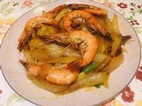 咖哩洋蔥蝦