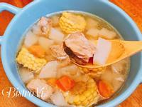 [電鍋料理] 暖心蘿蔔玉米山藥排骨湯