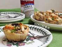 奶油蘑菇早餐派對塔