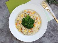 彩蔬蕈菇濃湯燉飯