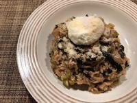 水波蛋菇菇燉飯
