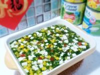 【翡翠黃金芙蓉羹】 菠菜玉米羹+蒸蛋