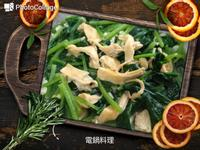 菠菜炒豆皮