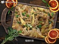 黑胡椒金針菇炒肉絲