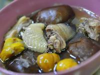 鮮菇栗子燉雞湯