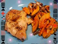 【減碳晚餐】 烤雞腿排佐南瓜