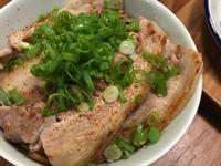 蔥花豬肉蓋飯