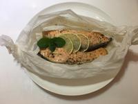 紙包鮭魚-鑄鐵鍋