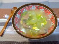 大黃瓜貢丸蛋花湯