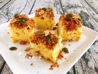 果仁蔥香鹹蛋糕(蒸蛋糕)