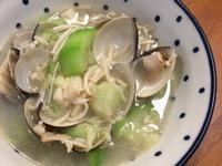 鑄鐵鍋無水料理-絲瓜金針蛤蜊
