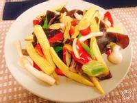[生酮低醣餐]玉米筍彩鮮菇