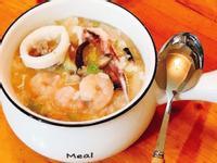 高麗菜海鮮什錦粥