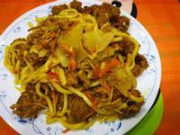 隔夜菜料理-咖哩鹹酥雞烏龍炒麵
