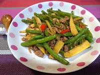 玉米筍乾煸四季豆