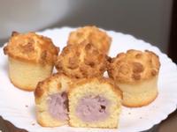 芋香椰蓉脆脆杯子蛋糕 Taro cake