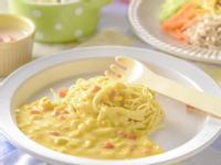 寶寶食譜/玉米濃湯寶寶麵 搭配水梨
