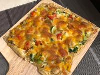 豆包蔬菜披薩