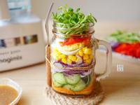 夏日輕食繽紛蔬菜沙拉罐+和風沙拉醬(影片