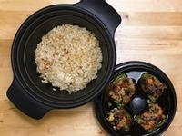 古早味蔥油燜飯+青椒鑲肉